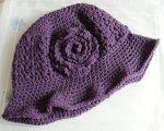 Plum Aran hat