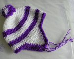 Child's white/purple twinkle hat