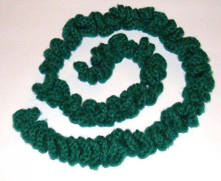 Emerald spiral scarf