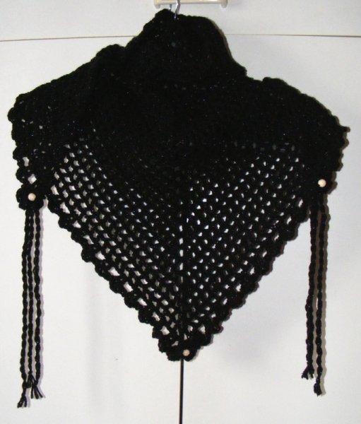 Black twinkle triangular scarf