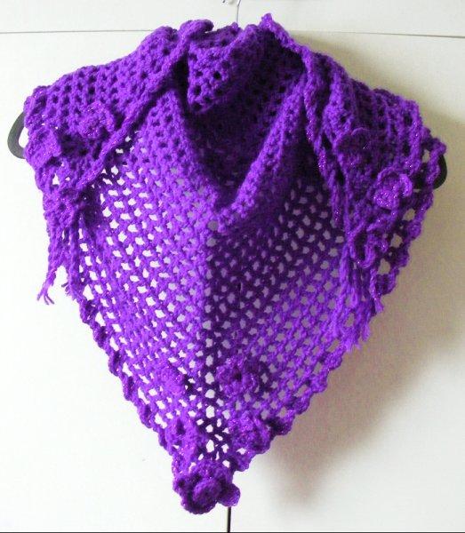 Purple/purple twinkle triangular scarf