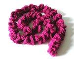Burgundy spiral scarf