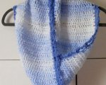 Blue/white mobius twist scarf