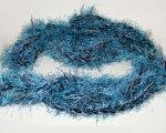 Peacock blue & black scarf