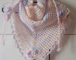 Pastel multi triangular scarf