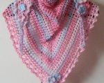 Pink/blue triangular scarf