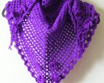 Purple/purple twinkle triangular scarf