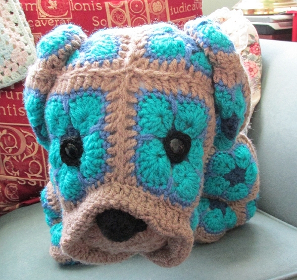 The Crochety Rabbit - dog from a pattern by Heidi Bears