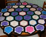 Hexagon motif blanket