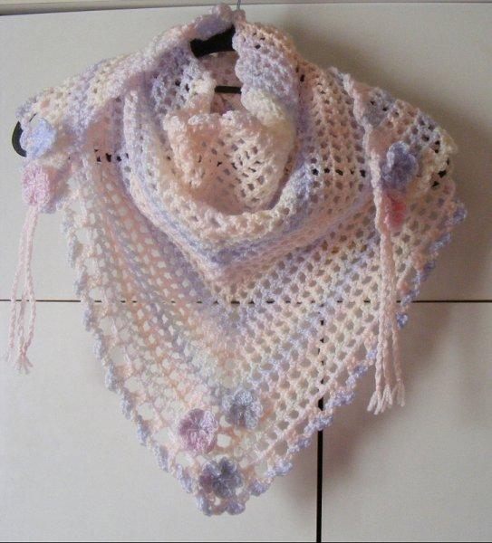 Pastel multi triangular scarf