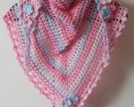 Pink/blue triangular scarf