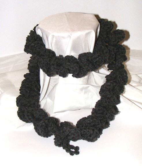 Charcoal spiral scarf